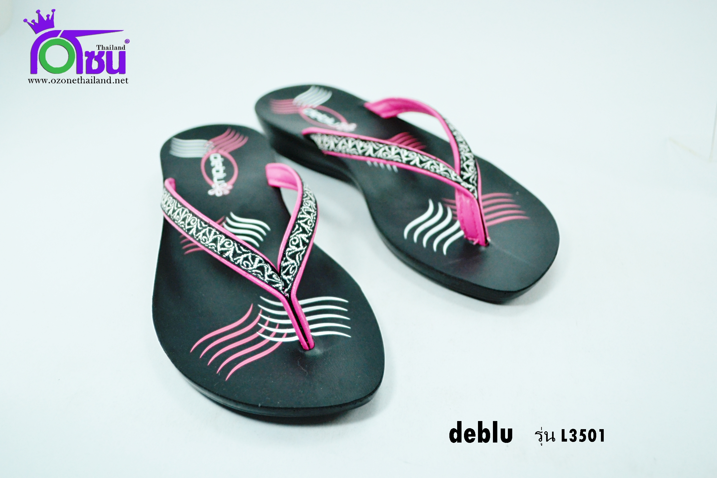 รองเท้าเดอบลูdebul รุ่นL3501 สีชมพู เบอร์ 36-41