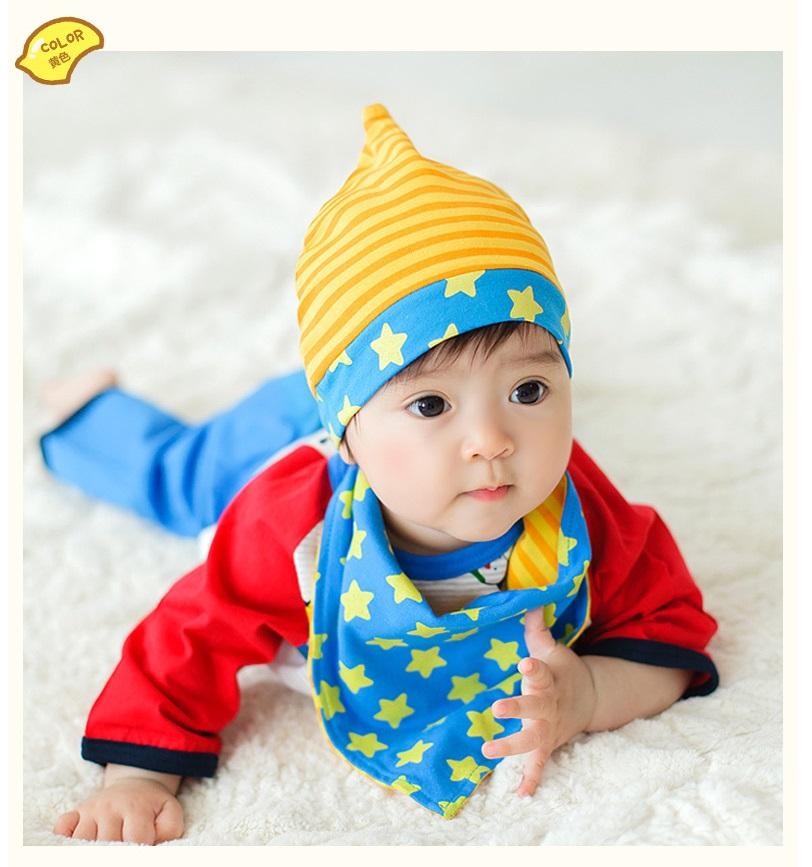 หมวกสีเหลืองพร้อมผ้าพันคอ แพ็ค 3 ชิ้น