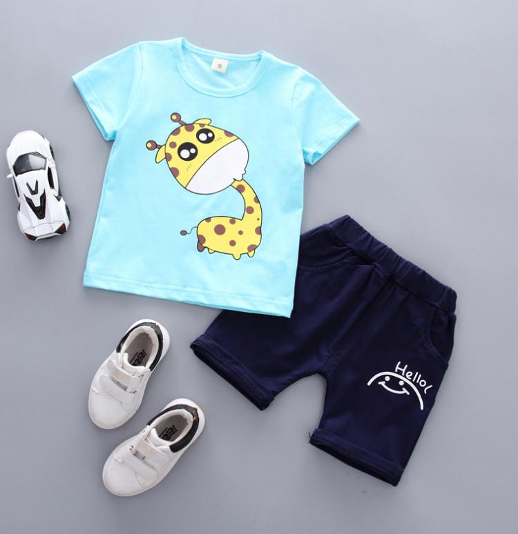 เสื้อ+กางเกง สีน้ำเงิน แพ็ค 4 ชุด ไซส์ 80-90-100-110