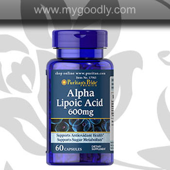 ALA 600 mg Alpha lipoic acid Puritan's Pride 60 softgel ราคาส่ง 600 บาท