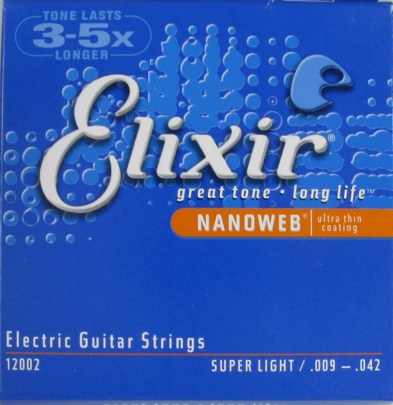 Electric Guitar Strings NanoWeb Coating Super Light 009 - 042