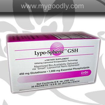 Lypo-Spheric GSH 450 mg (กลูต้าเจล) 1 กล่อง 30 ซอง ราคา 2200 บาท