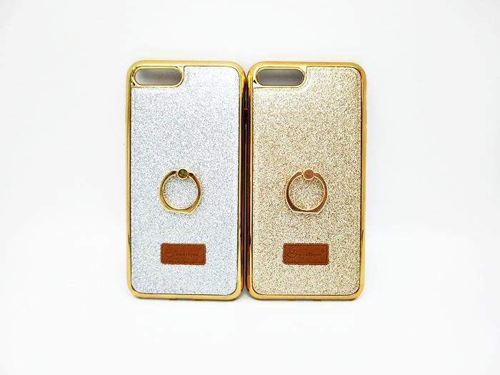 เคส ไอโฟน 7 plus 5.5 นิ้ว ขอบโคเมียมกากเพชรมีแหวน