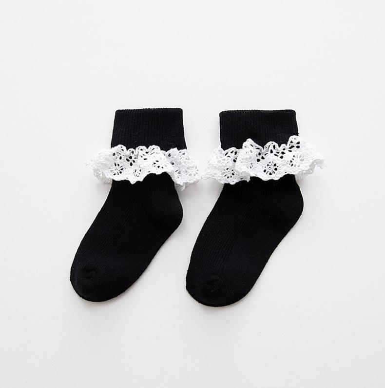 ถุงเท้าสั้น สีดำ แพ็ค 10 คู่ ไซส์ ประมาณ 1-3 ปี
