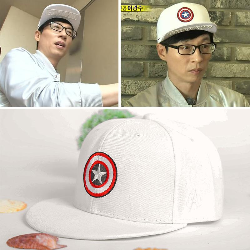 หมวกกัปตันอเมริกา สีขาว Running Man