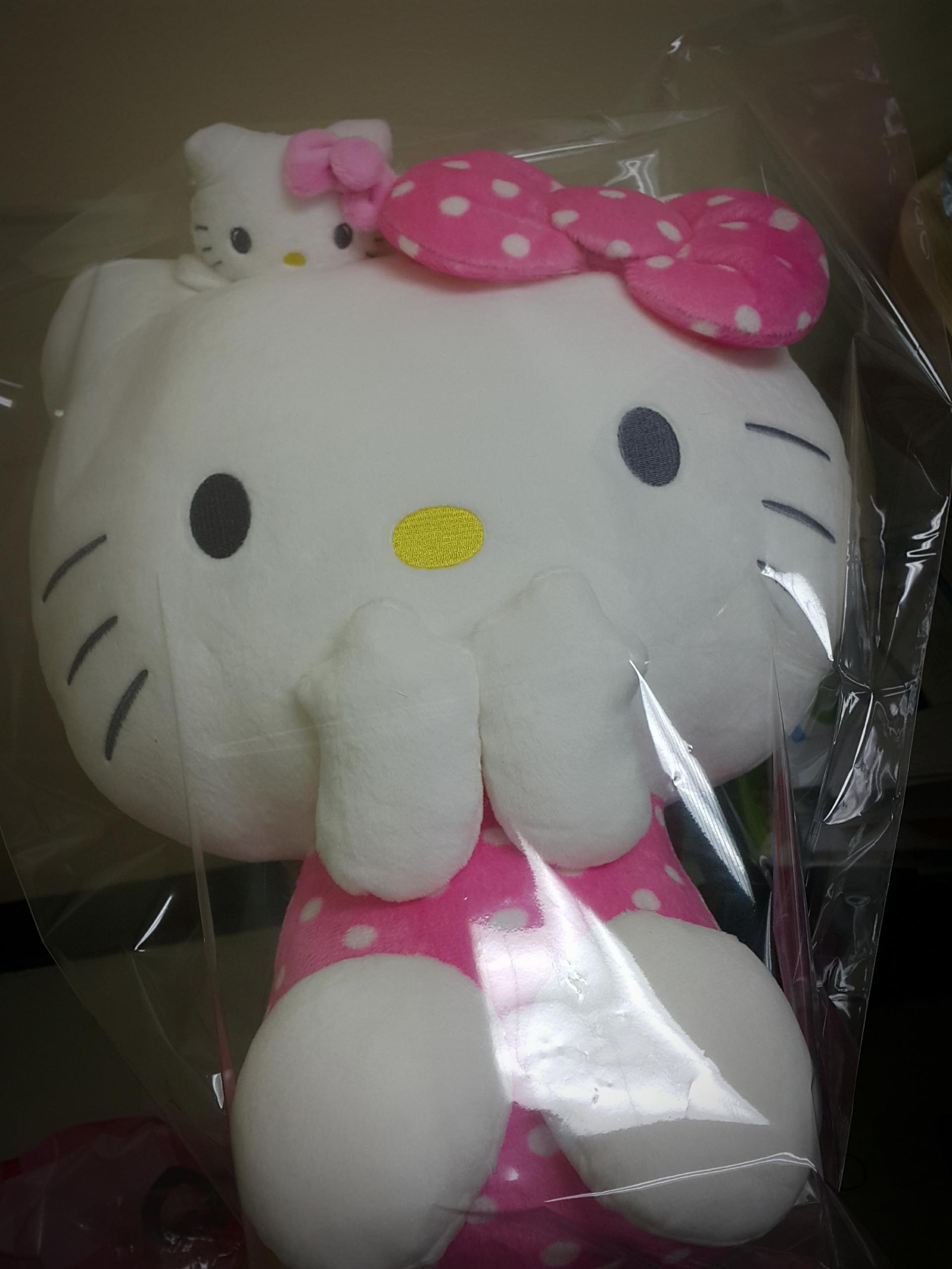 Hello Kitty with little twins plush doll SIZE L ตุ๊กตาเฮลโหลคิตตี้..มาพร้อมน้องตี้ตัวน้อยน่ารักเกาะหัว 50 ซม. Hello Kitty with little twins plush doll SIZE L ตุ๊กตาเฮลโหลคิตตี้..มาพร้อมน้องตี้ตัวน้อยน่ารักเกาะหัว 50 ซม.