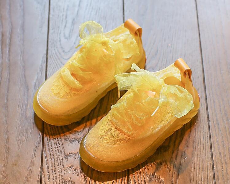 รองเท้าเด็กแฟชั่น สีเหลือง แพ็ค 5 คู่ ไซต์ 26-27-28-29-30