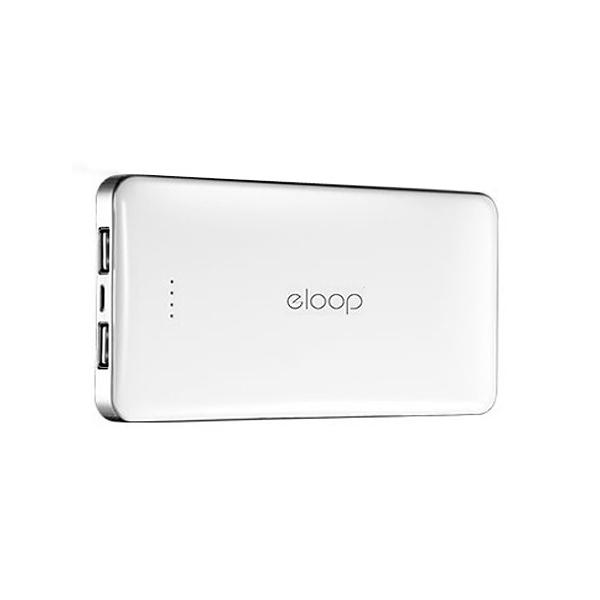 ซื้อแพ็คคู่คุ้มๆๆ แบตสำรอง Power bank ยี่ห้อ eloop E13ของแท้ 13000 มิลิแอม แอมเต็ม สีขาว