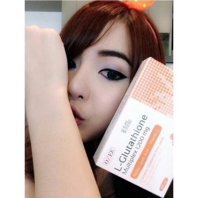 OZEE Glutathione 1200 mg. โอซี กลูต้าไธโอน ขาวออร่า ท้าทุกสีผิว