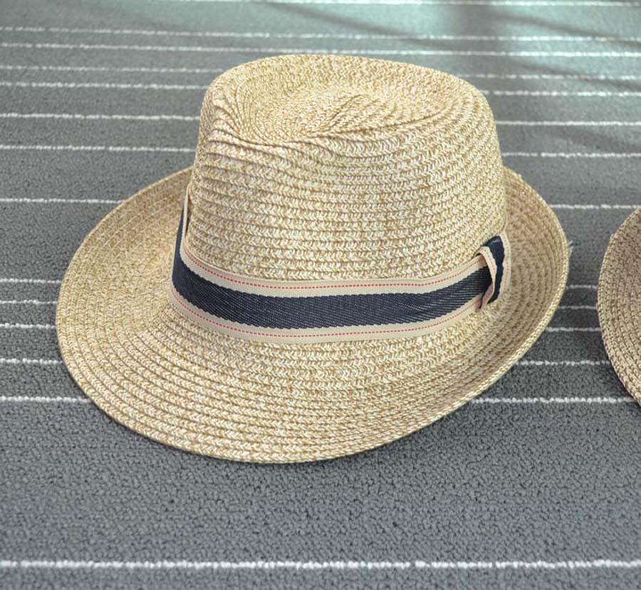 [พร้อมส่ง] H7271 หมวกปานามา ปีกสั้น คาดผ้ายีนส์เท่ห์ๆ