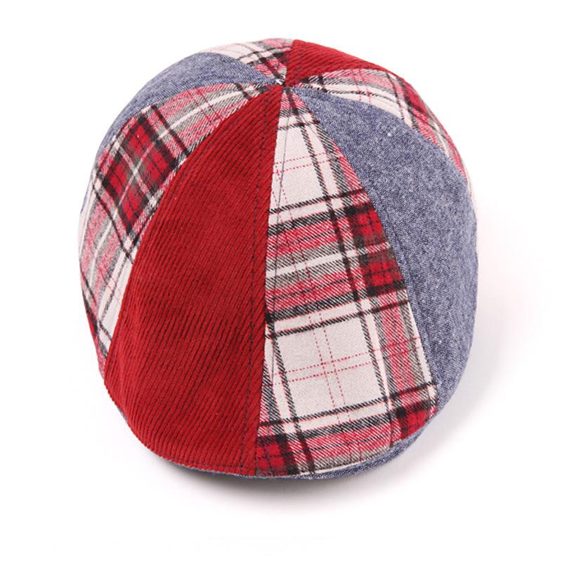 หมวกเด็กลายสก็อตสีแดง แพ็ค 3 ชิ้น
