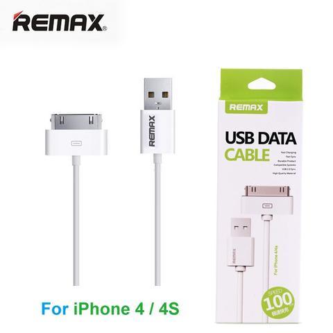 สายชาร์จ iPhone 4 Remax USB Data Cable สีขาว