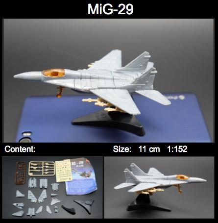 4D Model โมเดลเครื่องบินรบ MIG-29