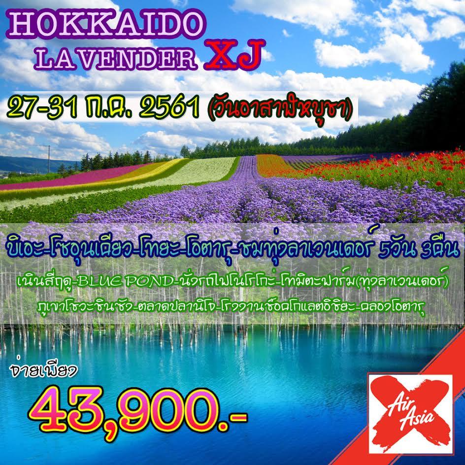 JGC HOKLAVENDERXJ ทัวร์ ญี่ปุ่น HOKKAIDO LAVENDER บิเอะ โซอุนเคียว โทยะ โอตารุ ชมทุ่งลาเวนเดอร์ 5 วัน 3 คืน บิน XJ