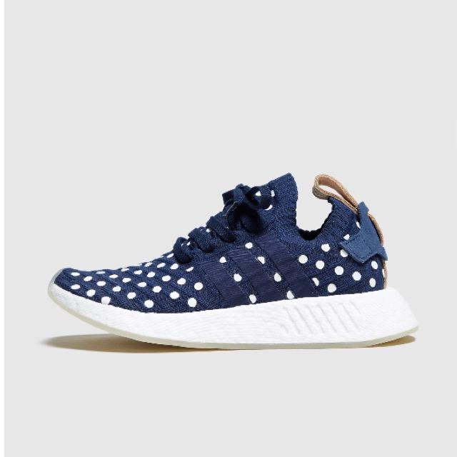 adidas Originals NMD R2 Primeknit Collegiate Navy/Footwear White/POLKA DOTS