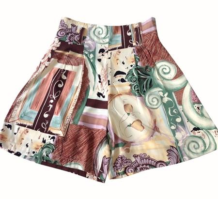 กางเกงขาสั้น กางเกงเอวสูง กางเกงวินเทจ