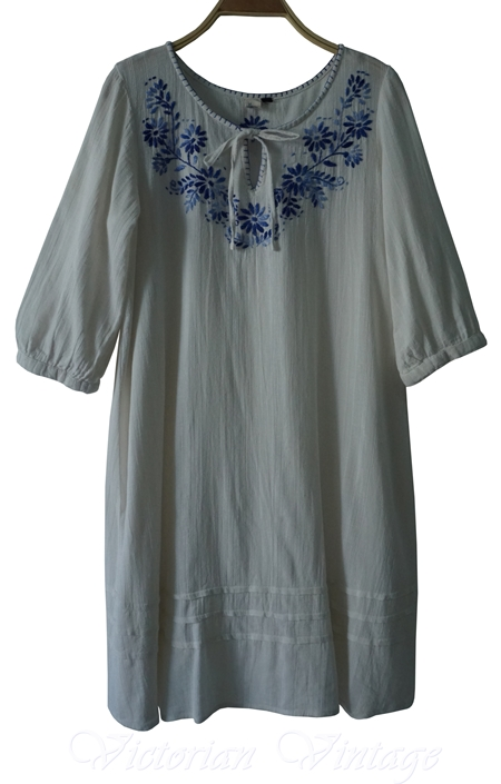 ชุดวินเทจ Mini Dress งานปักมือ Made In Japan