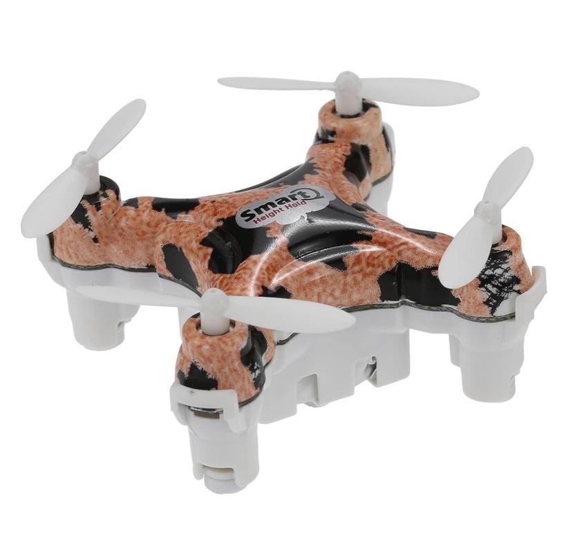 โดรนราคาถูก Cheerson CX-10D Drone โดรนจิ๋วที่มาพร้อมระบบล๊อกความสูง แถมฟรีอะไหล่ใบพัด (สีน้ำตาลลายเสือ)