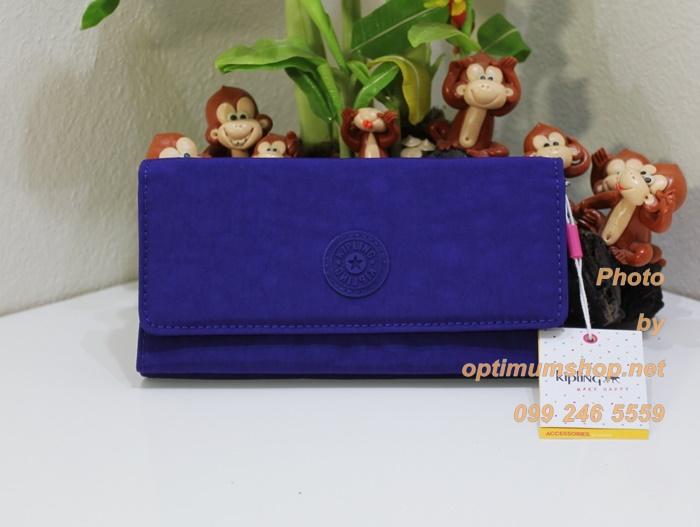 Kipling Brownie สี Flash Blue กระเป๋าสตางค์ใบยาว ขนาด 19 L x 10 H x 3 W cm