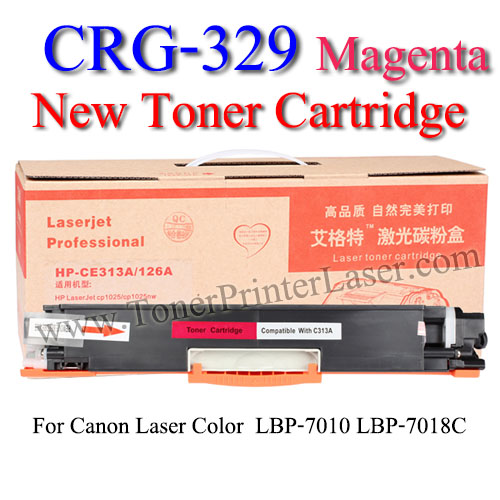 CRG-329 Magenta For Canon LBP7018C Toner Printer Laser (New Cartridge) ตลับหมึกสีแดง