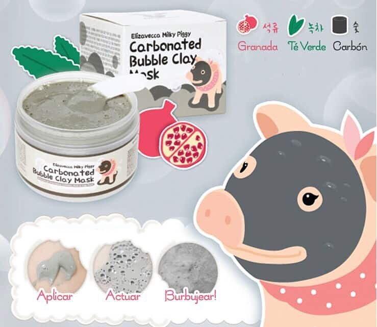 มาร์คหน้ากากฟองน้องหมู Elizavecca Milky Piggy Carbonated Bubble Clay Mask 100 g.