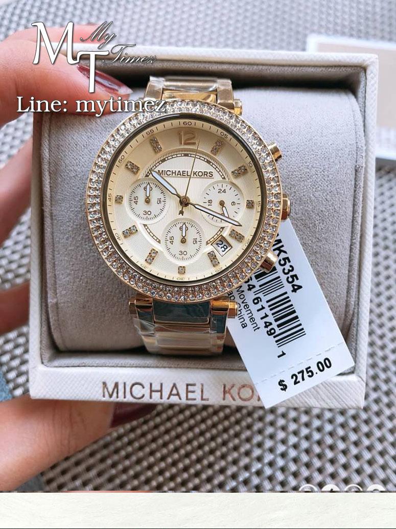 นาฬิกาข้อมือ MICHAEL KORS รุ่น Parker Chronograph Champagne Dial Ladies Watch - MK5354