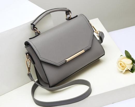 กระเป๋าสะพายข้างผู้หญิง PU Kelly (Light Gray)