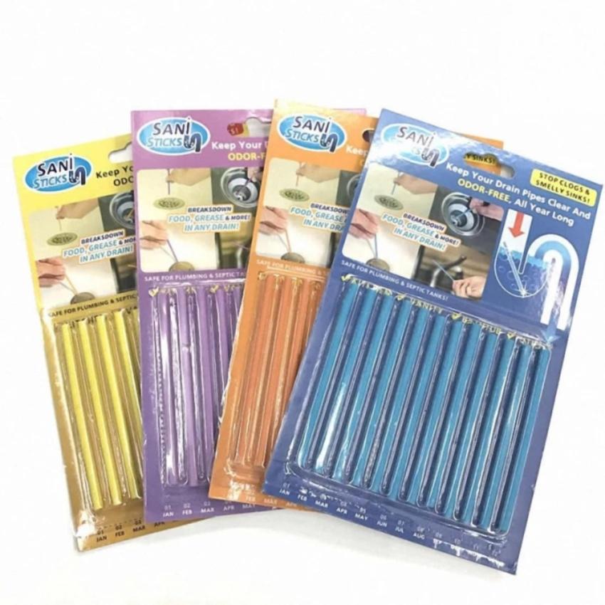 Sani Sticks อุปกรณ์แก้ท่ออุดตัน แท่งทำความสะอาดท่อน้ำ ได้อย่างง่ายดาย