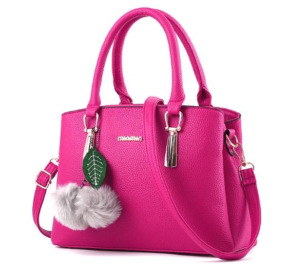 กระเป๋าสะพายข้างผู้หญิงฺ Berlyn สีชมพูบานเย็น