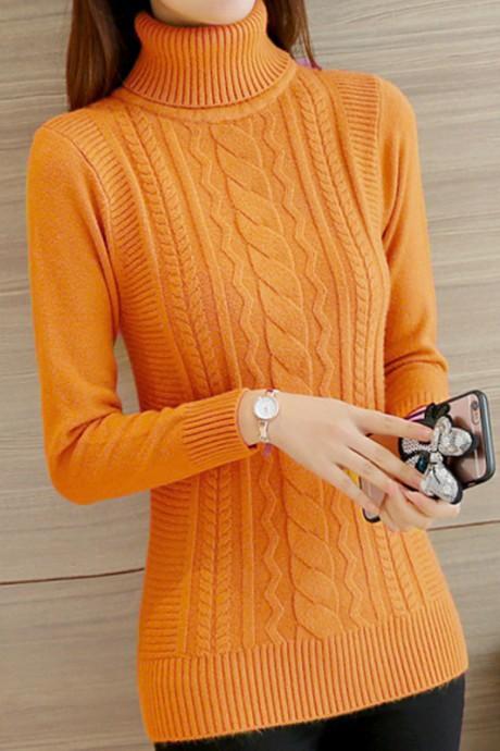 เสื้อกันหนาวไหมพรม พร้อมส่ง สีเหลืองอมส้ม คอเต่า แต่งลวดลายด้านหน้าเก๋ ด้านหลังเรียบๆ แขนยาว ตัวสั้น ใส่กันหนาวได้ค่ะ ผ้าไหมพรมมีความยืดหยุ่นได้ อุ่นๆใส่กันหนาวได้ สินค้าจริงน่ารัก งานสวยเหมือนแบบเลยค่ะ