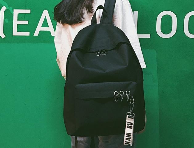 กระเป๋าเป้ LB001 เป้ใบใหญ่ ใส่หนังสือได้ Black