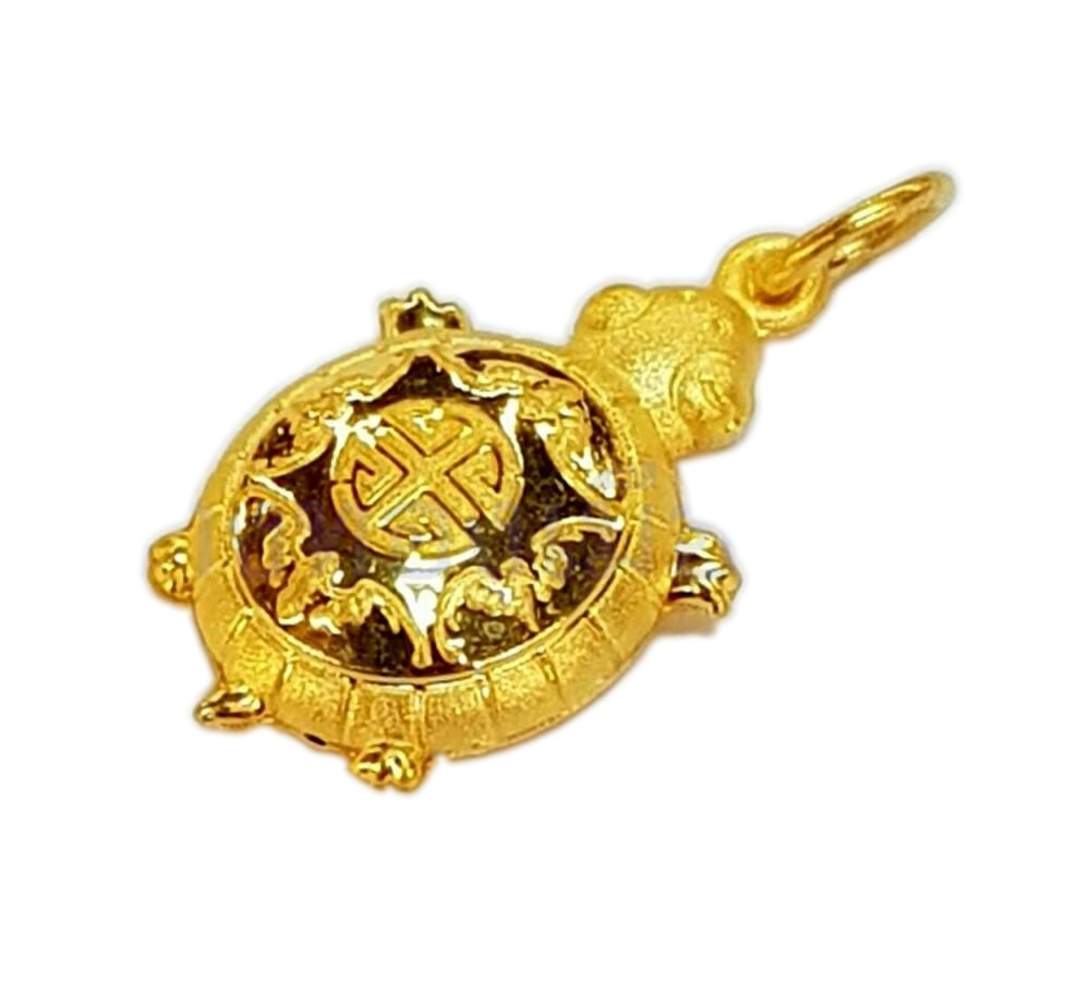 จี้เต่านำโชค ทองคำแท้ 96.5% น้ำหนัก 1.9 กรัม (ครึ่งสลึง)