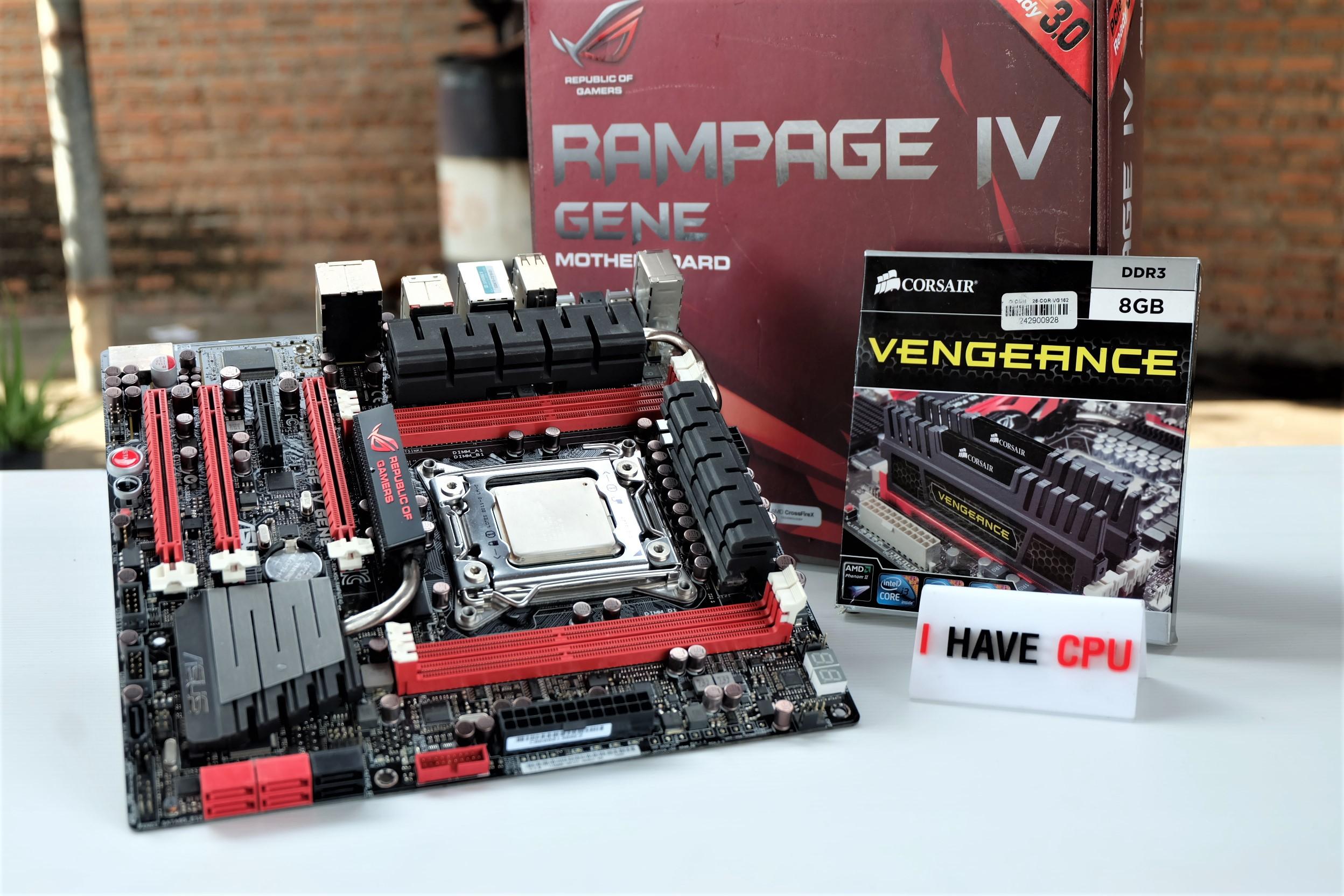 i7-3960X 3.9Ghz 6C 12T / RAMPAEG IV GENE / 16GB CORSAIR VENGEANCE 1600MHZ (4*4)