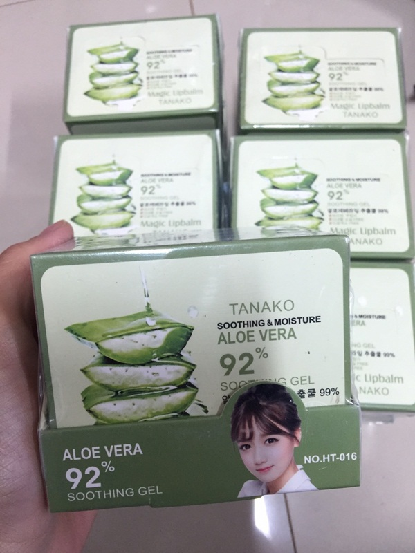 TANAKO Aloe Vera 92% Soothing Gel Lipstick ทานาวอโลเวร่า ลิปมันเปรี่ยนสี