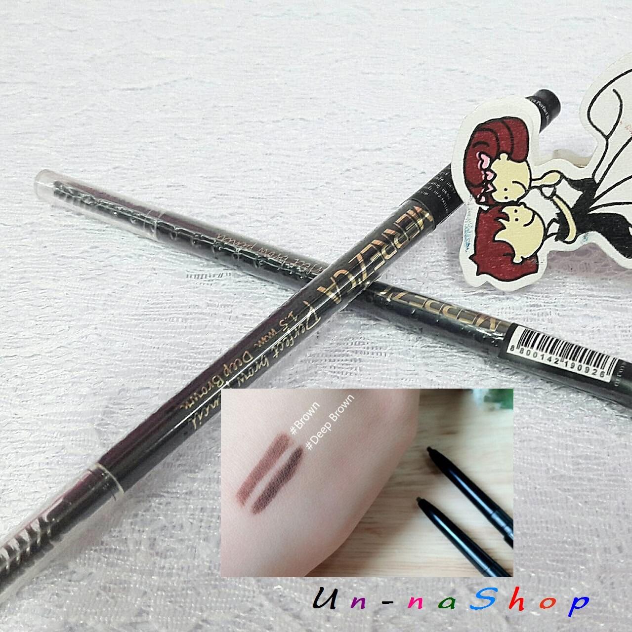 ขายส่งเมอเรสก้า ดินสอเขียนคิ้วเมอเรซกา Merrez'ca Perfect Brow Pencil 1.5mm #Brown เขียนง่ายมากค่ะ เนื้อนิ่มกำลังดี ไม่เป็นก้อน ไม่หักง่าย ที่สำคัญไม่ต้องเหลาค่ะ