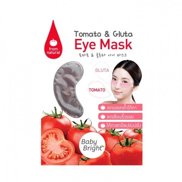 Baby Bright Tomato & Gluta Eye Mask เบบี้ไบร์ท โทมาโท แอนด์ กลูต้า อายมาส์ก