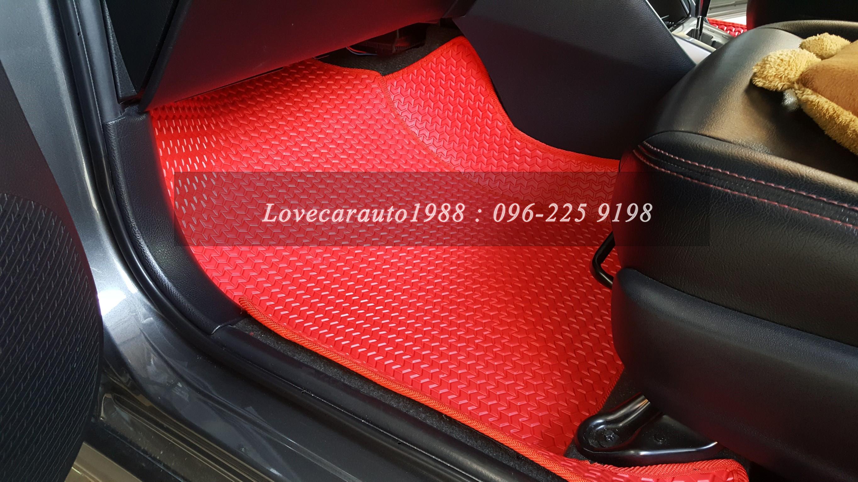 ยางปูพื้นรถยนต์ Toyota Yaris2014 ธนูแดง