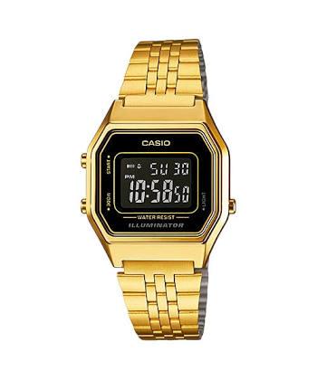 นาฬิกา CASIO ดิจิตอล สีทอง รุ่น LA680WGA-1B STANDARD DIGITAL RETRO CLASSIC ของแท้ รับประกันศูนย์ 1 ปี