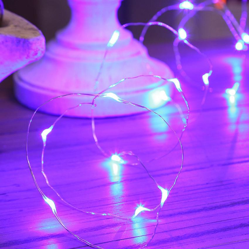 ไฟแฟรี่ ไฟลวด LED ตกแต่ง หักงอได้ ยาว 2 เมตร สีม่วง