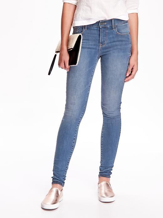 ( ไซส์ 20 เอว 40 สะโพก 50 นิ้ว )กางเกงยีนส์ Oldnavy สีอ่อน ทรง skinny ผ้ายีนส์ยืดใส่สบายคะ