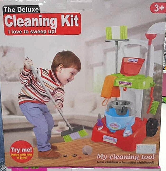 ชุดรถเข็นทำความสะอาด my cleaning tool สีฟ้า ส่งฟรี