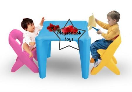 SPT-1065B โต๊ะติวเตอร์หนูน้อย 1 ประกอบด้วยโต๊ะ 1ตัว, เก้าอี้ 2 ตัว