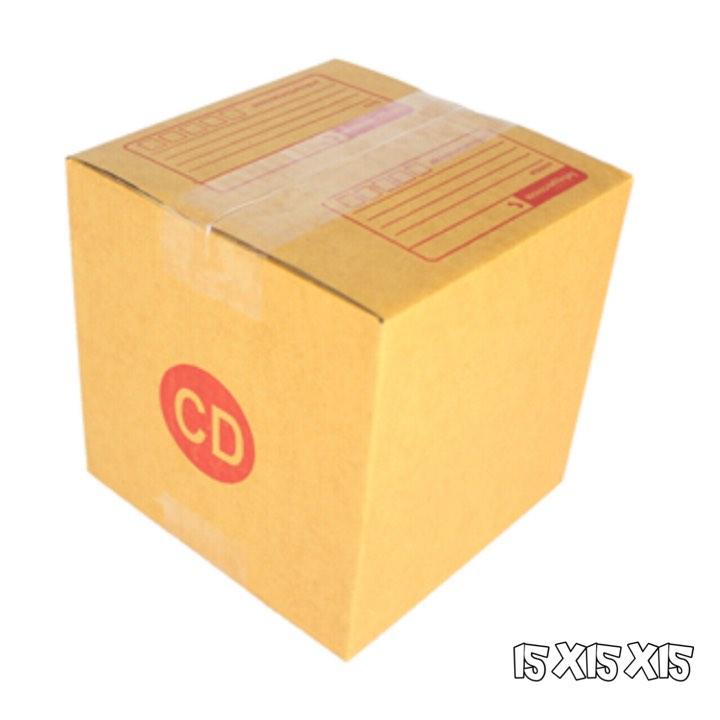 กล่องไปรษณีย์ฝาชน เบอร์CD **ขนาด15x15x15** (รวมค่าจัดส่ง)