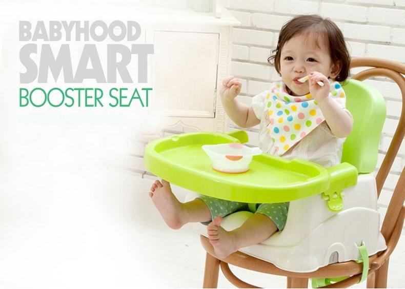 พร้อมส่ง เก้าอี้นั่งทานข้าวเด็กแบบ Booster Seat จาก Babyhoodส่งฟรี