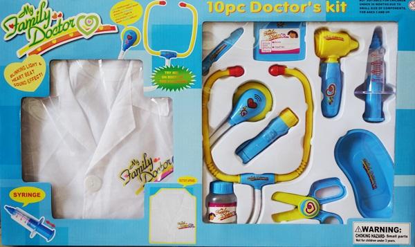 ชุดคุณหมอพร้อมเสื้อกราวด์ตรวจรักษา พร้อมส่ง ส่งฟรี