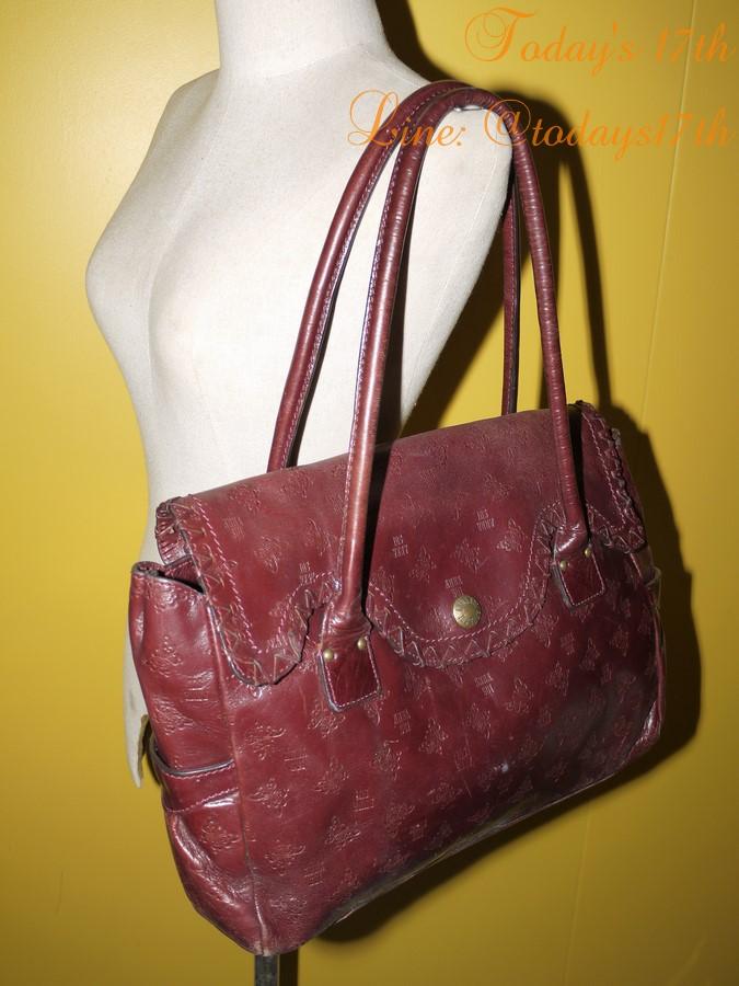 กระเป๋าหนังแท้ Anna sui
