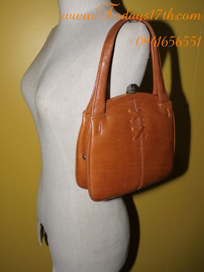 กระเป๋าถือหนังแท้ Vintage