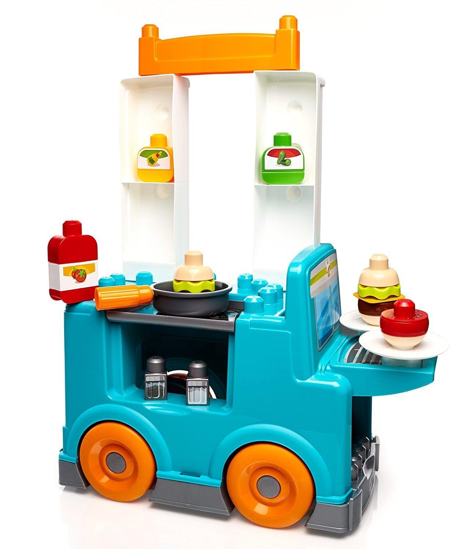 ตัวต่อเสริมพัฒนาการ Mega Bloks First Builders Food Truck Kitchen Building Set ฟู้ดทรักรูปแบบใหม่
