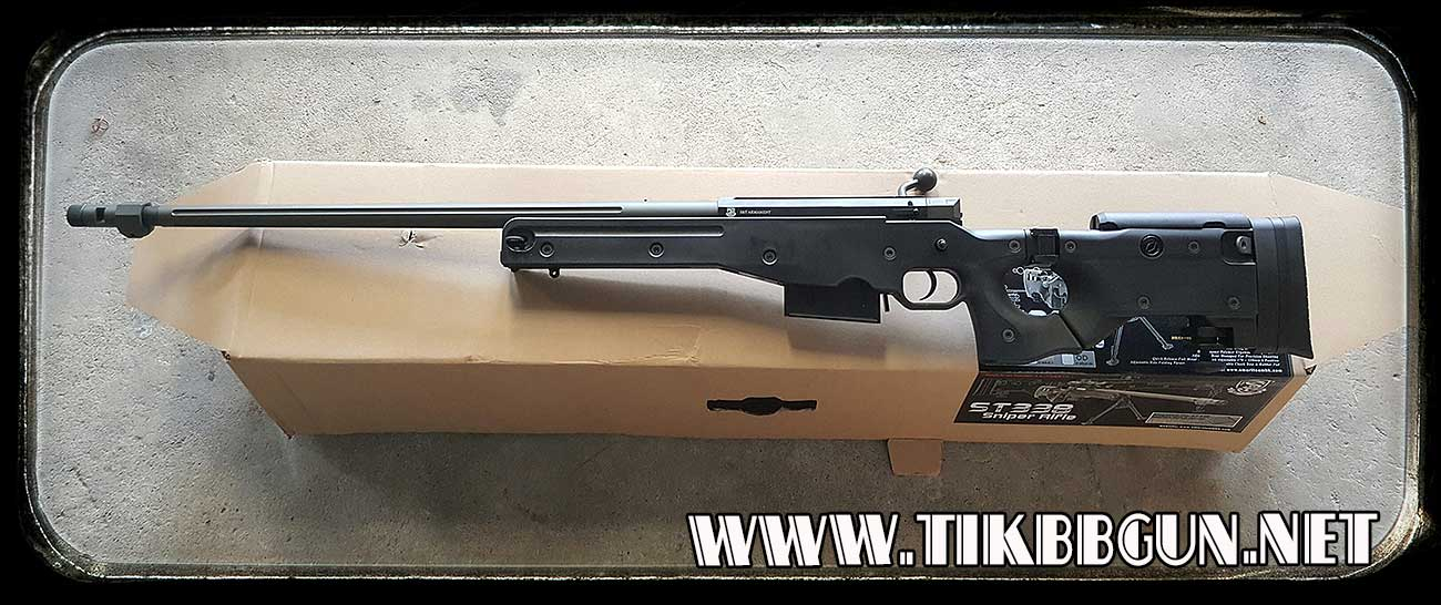 ปืนอัดลมเบาแบบชักยิงทีล่ะนัด รุ่น W338 S and T มีขาจับกล้องให้มาด้วย