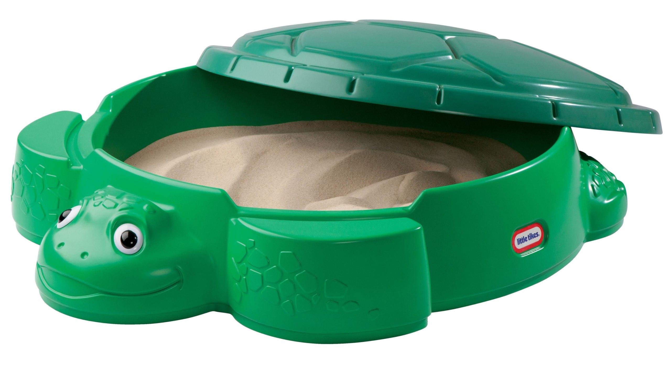 กระบะทรายขนาดใหญ่ Little Tikes Turtle Round Sandbox ลายลุงเต่าหลังตุง